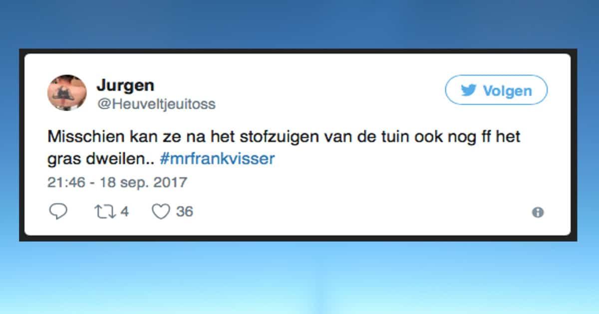 Mr. Frank Visser doet uitspraak; De aflevering in tweets