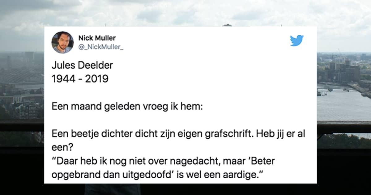 Twitteraars Delen Het Prachtige Werk Van Jules Deelder Diwmotz